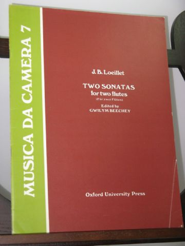 Loeillet J B - Two Sonatas for Two Flutes Op 5 Book 2 Nos 1 & 4